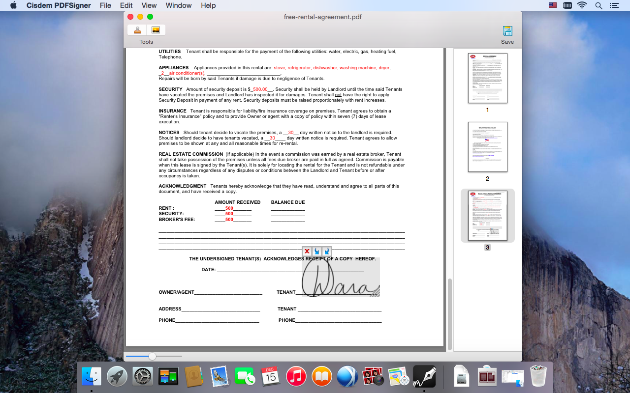 Cisdem PDFSigner for Mac, Business & Finance Software Screenshot