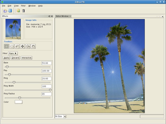 Photo Manipulation Software, Citra FX Photo Effects Screenshot