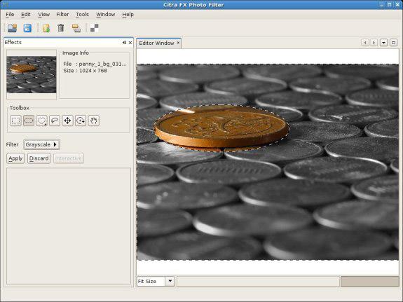 Citra FX Photo Effects, Photo Manipulation Software Screenshot