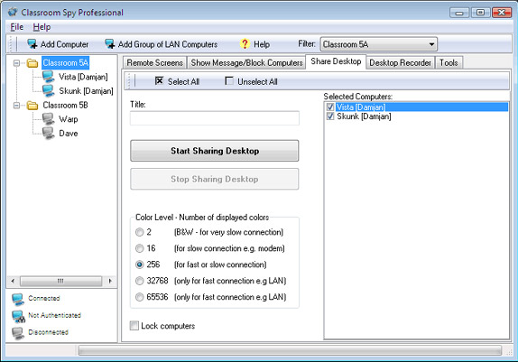 Activity Monitoring Software Screenshot