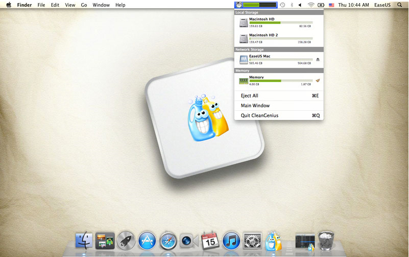 CleanGenius, Software Utilities, Hard Drive Software Screenshot