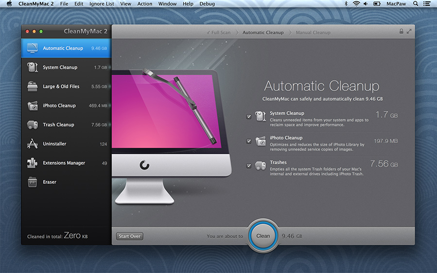CleanMyMac Screenshot