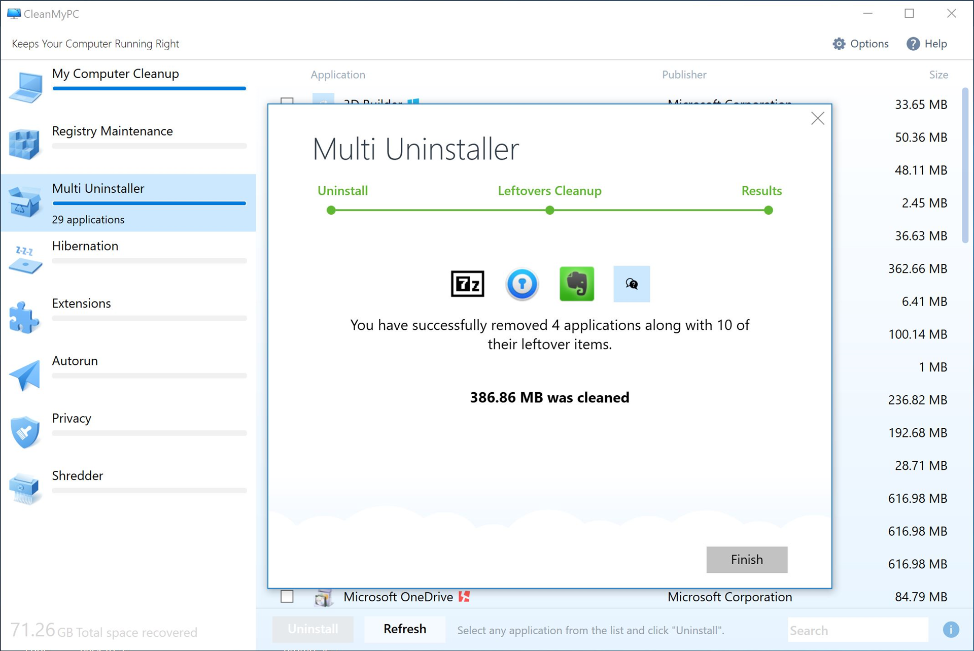 Software Utilities, CleanMyPC (Lifetime License) Screenshot