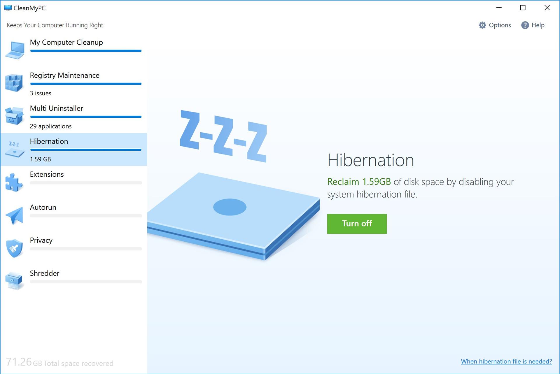 PC Optimization Software, CleanMyPC (Lifetime License) Screenshot