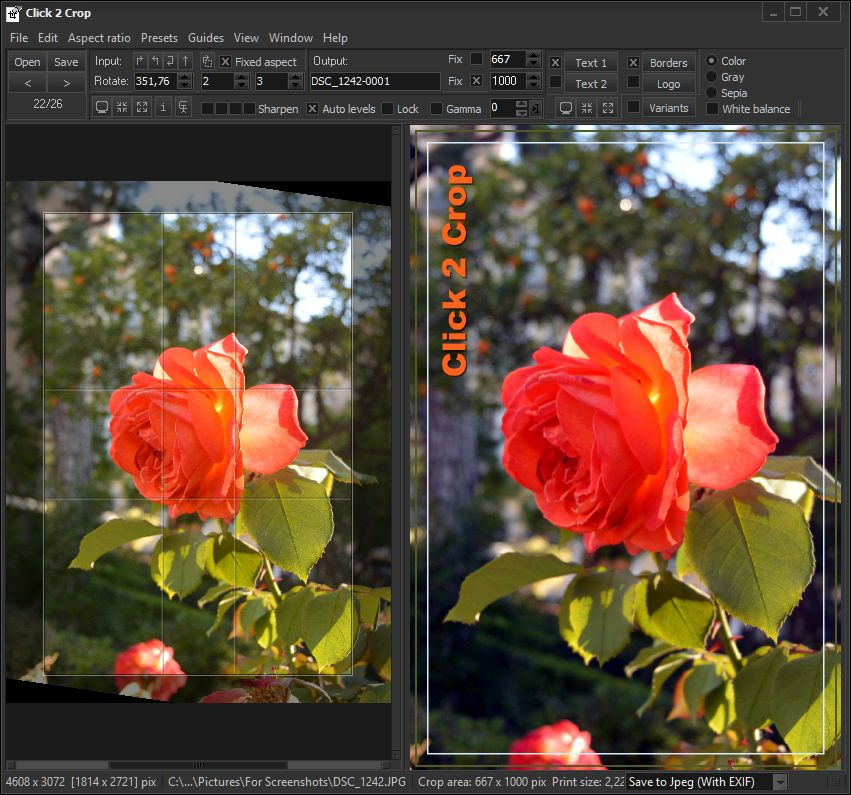 Click 2 Crop, Design, Photo & Graphics Software, Graphic Design Software Screenshot