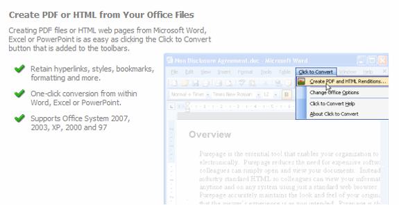 Click to Convert PDF Converter Screenshot
