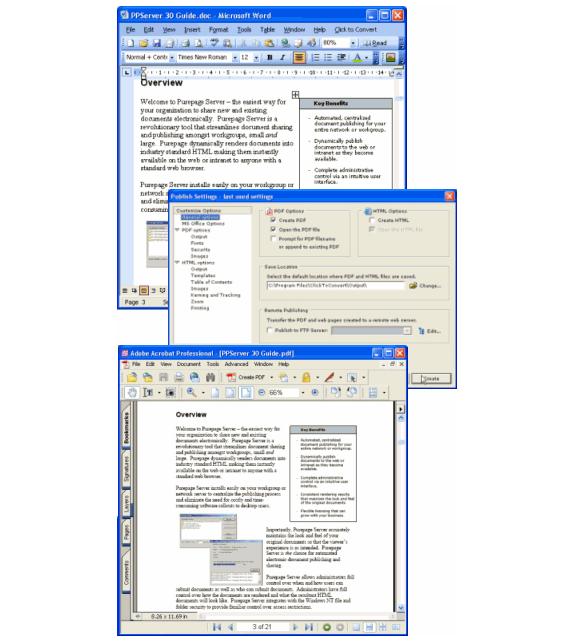 PDF Conversion Software, Click to Convert PDF Converter Screenshot