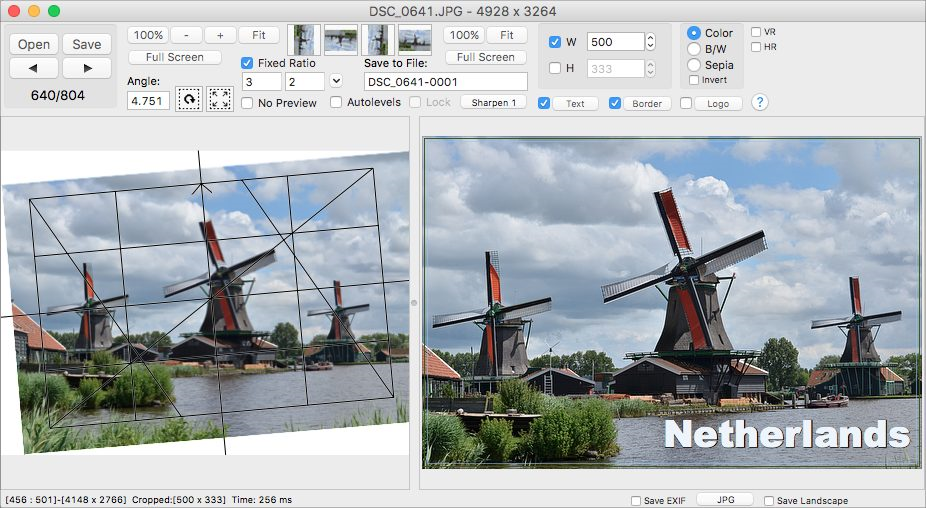 Click2Crop for Mac, Photo Editing Software Screenshot