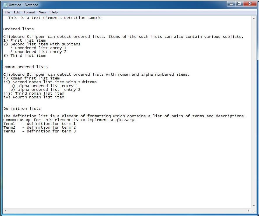 Clipboard Software, Clipboard Stripper Personal Screenshot