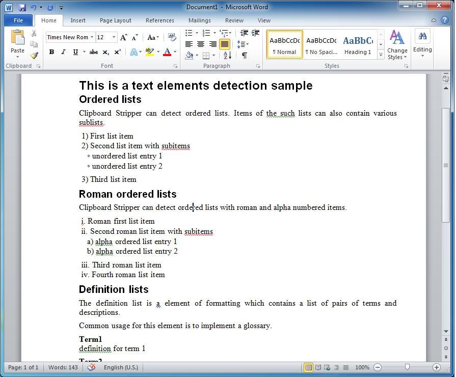 Desktop Customization Software, Clipboard Stripper Personal Screenshot