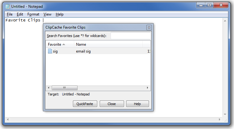 ClipCache Pro, Desktop Customization Software, Clipboard Software Screenshot