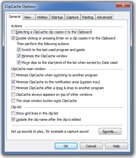 ClipCache Pro, Desktop Customization Software Screenshot