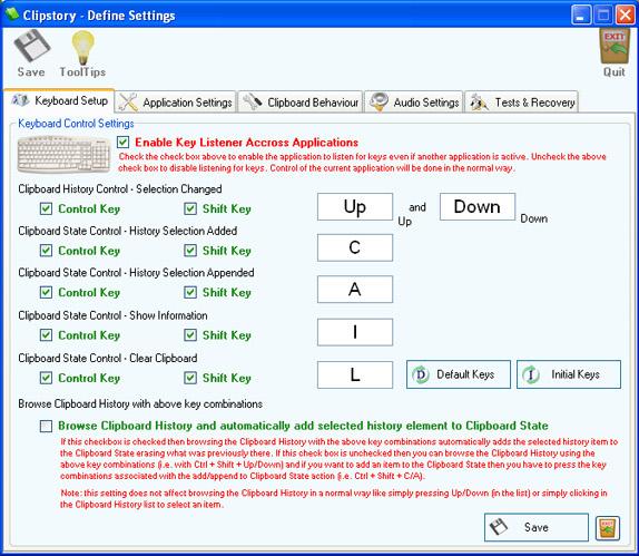 Clipstory, Desktop Customization Software, Clipboard Software Screenshot
