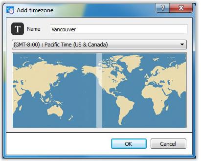 Clock-on-Tray, Desktop Customization Software, Clock Software Screenshot