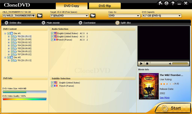 Video Software, CloneDVD Screenshot