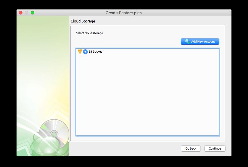 Cloudberry Backup for Mac, Backup Cloud Software Screenshot