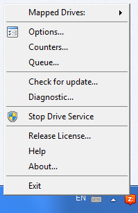 CloudBerry Drive, Access Restriction Software Screenshot
