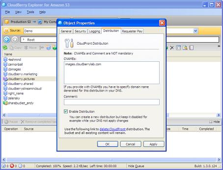 Security Software, CloudBerry S3 Explorer Screenshot