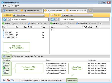 CloudBerry S3 Explorer, Security Software Screenshot
