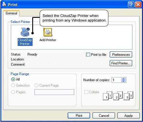 Printing Software Screenshot