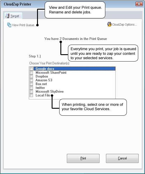 CloudZap Screenshot