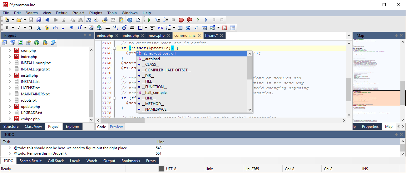 CodeLobster IDE (multi-platform version), Web Development Software Screenshot