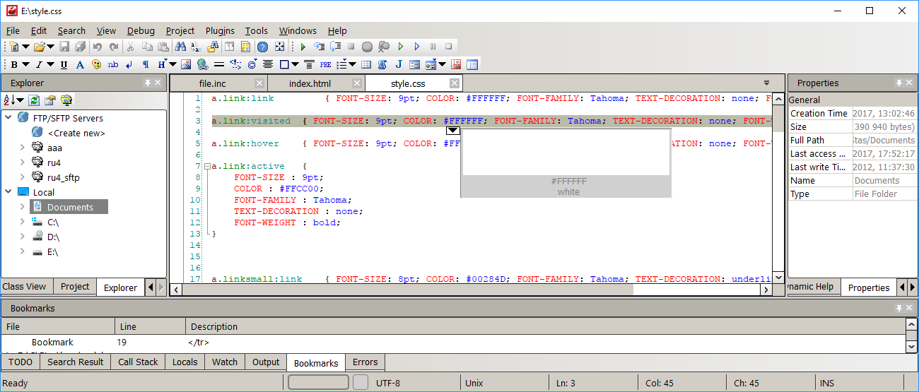 CodeLobster IDE (multi-platform version) Screenshot
