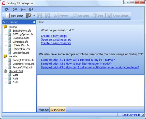 Coding FTP Screenshot
