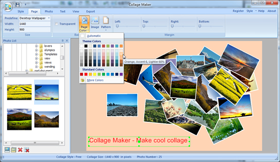 Collage Maker, Graphic Design Software Screenshot