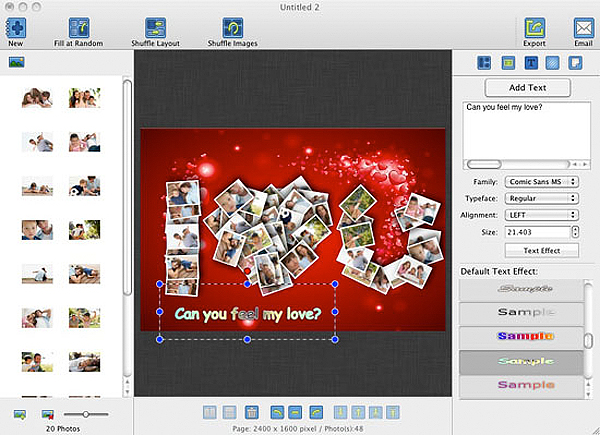 Graphic Design Software, CollageFactory Pro Screenshot