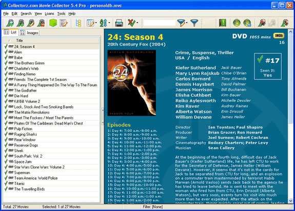 Movie Collector Pro Screenshot