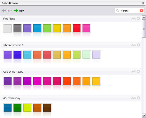 ColorSchemer Studio 2, Color Selection Software Screenshot