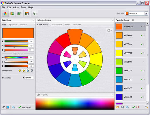 ColorSchemer Studio 2 Screenshot