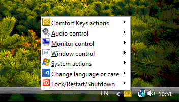 Comfort Keys Pro, Productivity Software Screenshot