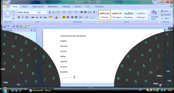 Comfort Keys Pro, Typing Software Screenshot