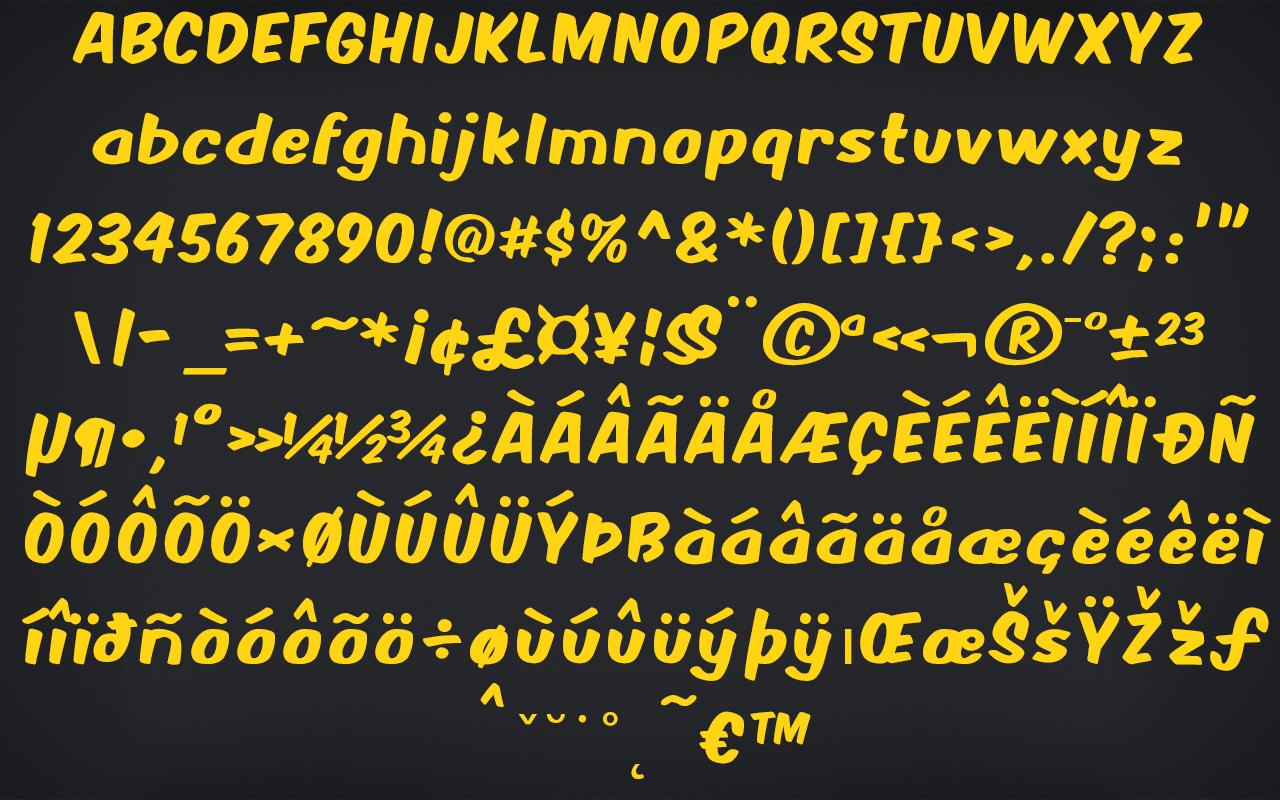 Comic Fonts, Design, Photo & Graphics Software Screenshot