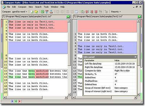 Compare PDF Screenshot