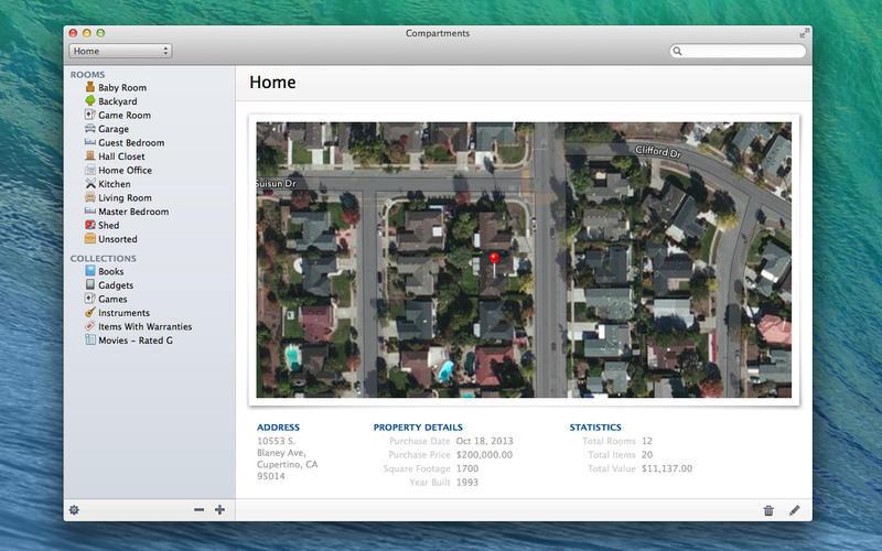 Compartments, Productivity Software Screenshot