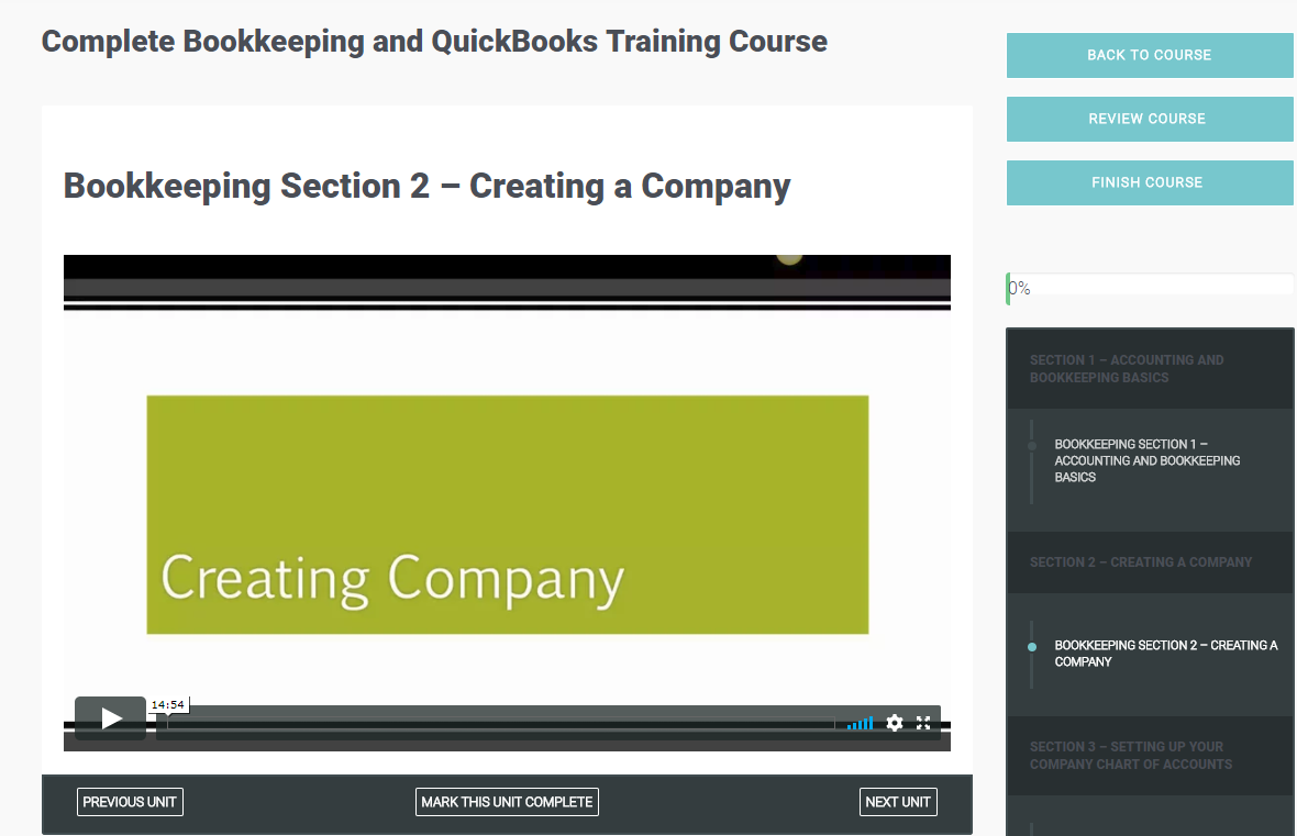 Complete Bookkeeping and QuickBooks Training Course Screenshot
