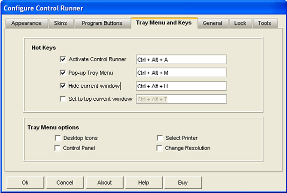 App Launcher Software, Control Runner Screenshot
