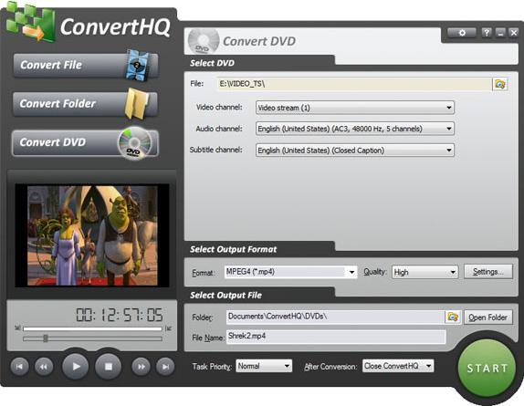 ConvertHQ Premium, Video Converter Software Screenshot
