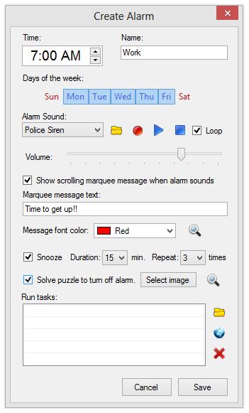 Cool Timer Deluxe, Clock Software Screenshot