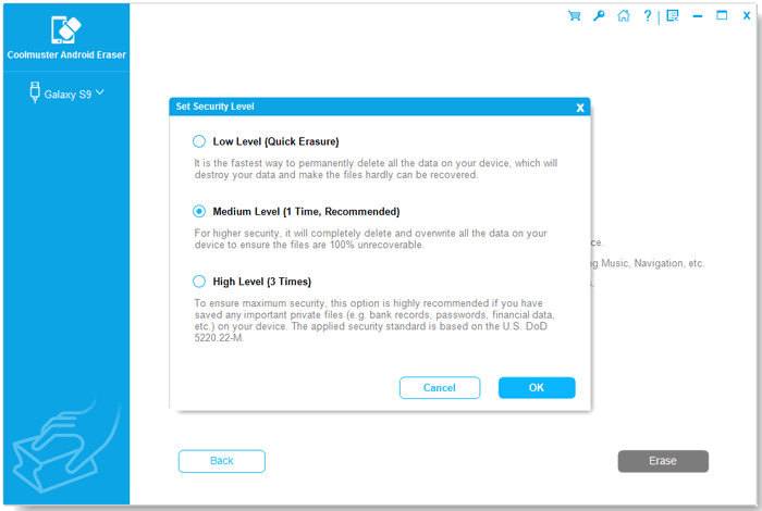 Coolmuster Android Eraser Screenshot