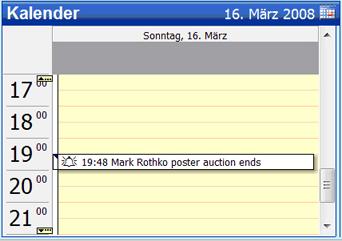 copy2calendar, Project Management Software Screenshot