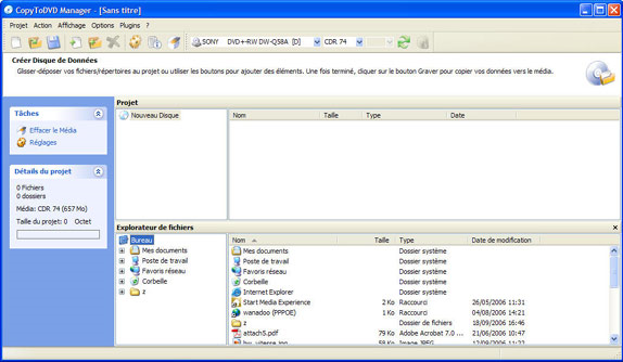 DVD Copy Software, CopyToDVD Screenshot