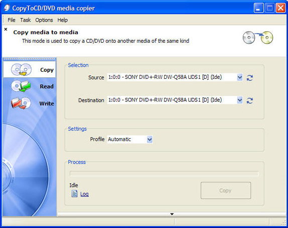 CopyToDVD, Video Software Screenshot