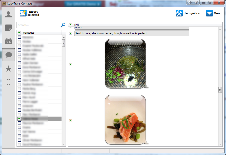 CopyTrans Contacts, Productivity Software Screenshot