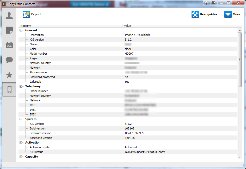 Productivity Software, CopyTrans Contacts Screenshot