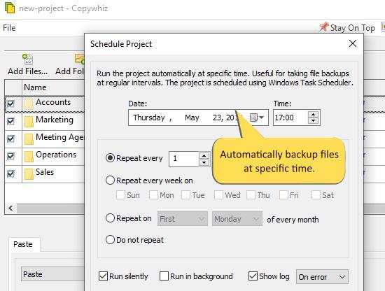 Copywhiz, File Management Software Screenshot