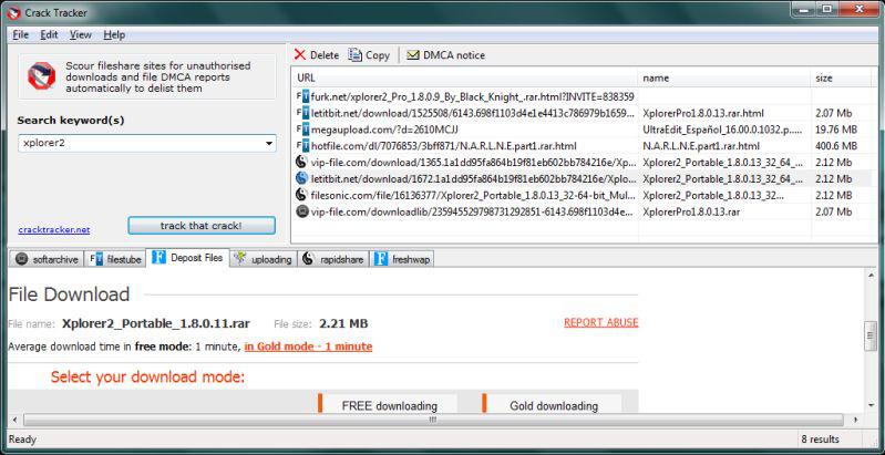 Crack Tracker Professional Screenshot